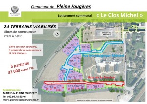 Article lotissement Clos Michel plan